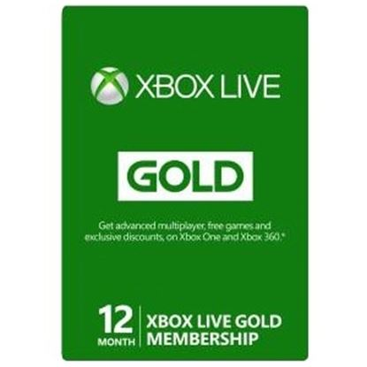 Picture of Microsoft 12-Month Xbox Live Gold Membership