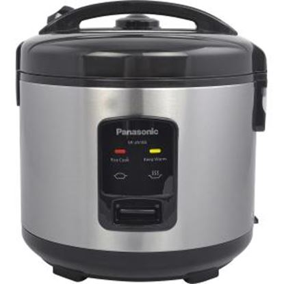 Picture of Panasonic 10 Cup (uncooked) Automatic Rice Cooker - Stainless Steel / Black - SR-JN185