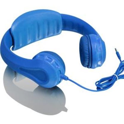 Picture of Aluratek Volume Limiting Wired Foam Headphones For Children (Blue)