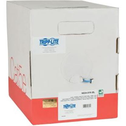 Picture of Tripp Lite 1000ft Cat5 / Cat5e Bulk Cable Solid CMP Plenum PVC Blue 1000'