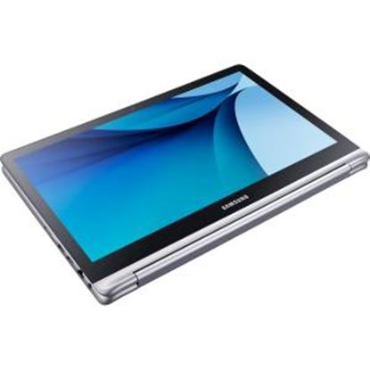 """Picture of Samsung 7 NP740U5L 15.6"""" Touchscreen 2 in 1 Notebook - Intel Core i7 (6th Gen) i7-6500U Dual-core (2 Core) 2.50 GHz - 8 GB DDR4 SDRAM - 1 TB HDD - 128 GB SSD - Windows 10 Pro - 1920 x 1080 - Plane to Line (PLS) Switching - Platinum Silver"""