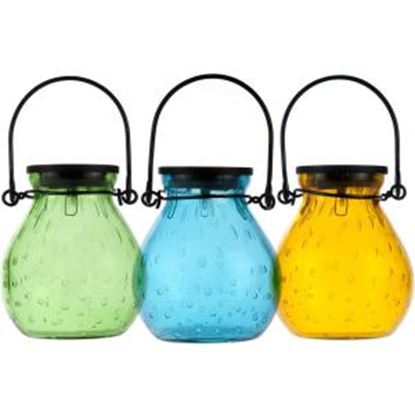 Picture of Allsop Home & Garden Bubble Glass Solar Lantern - Turquoise
