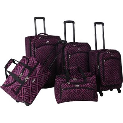 Picture of American Flyer Astor Travel/Luggage Case Travel Essential - Black, Purple