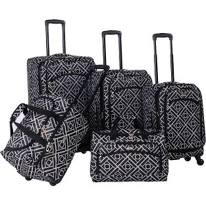 Picture of American Flyer Astor Travel/Luggage Case Travel Essential - Black, White
