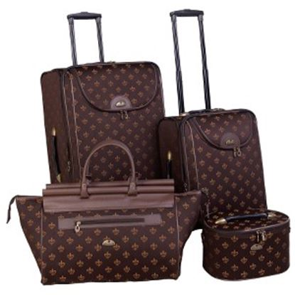 Picture of American Flyer Fleur De Lis Travel/Luggage Case Travel Essential - Brown