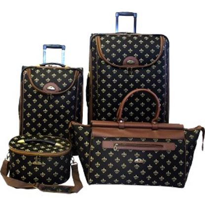 Picture of American Flyer Fleur De Lis Travel/Luggage Case Travel Essential - Black