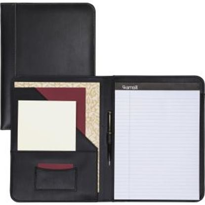 Picture of Samsill Contrast Stitch Black Leather Padfolio