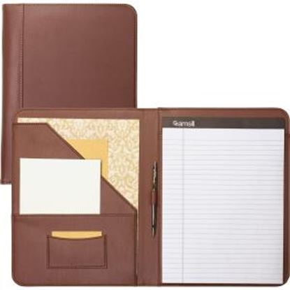 Picture of Samsill Contrast Stitch Tan Leather Padfolio