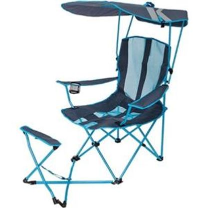 Picture of Kelsyus Original Canopy Chair with Ottoman - Light Blue/Gray