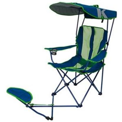 Picture of Kelsyus Original Canopy Chair with Ottoman - Navy/Lime