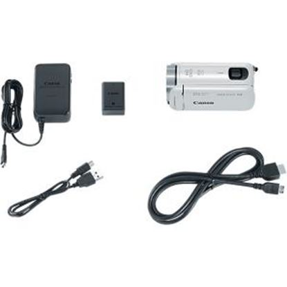 """Picture of Canon VIXIA HF R800 Digital Camcorder - 3"""" - Touchscreen LCD - CMOS - Full HD - White"""