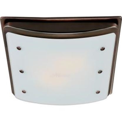 Picture of Hunter Fan Ellipse Bathroom Fan with Light and Nightlight - Imperial Bronze Frame (90065)