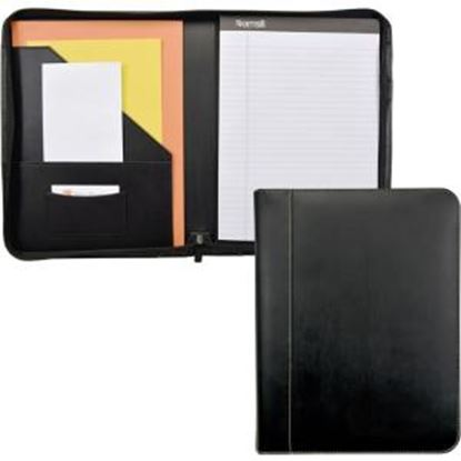 Picture of Samsill Contrast Stitch Leather Zipper Padfolio
