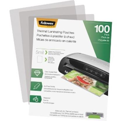 Picture of Fellowes Thermal Laminating Pouches - Letter, 5 mil, 100 pack