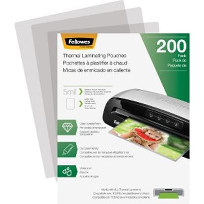 Picture of Fellowes Thermal Laminating Pouches - Letter, 5 mil, 200 pack