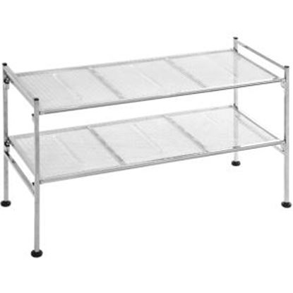 Picture of Seville 2-Tier Iron Mesh Utility Shoe Rack, Chrome