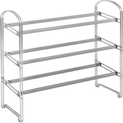 Picture of Seville 3-Tier Expandable Shoe Rack, Chrome