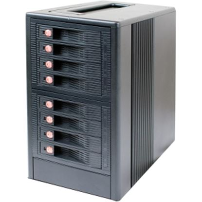 Picture of CRU 8-Bay 6Gbps SAS/SATA JBOD Tower with Dual SFF-8088 Multilane Connection
