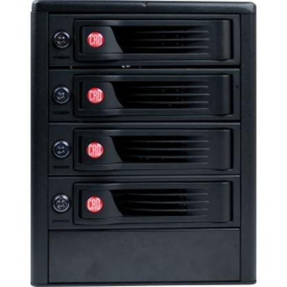 Picture of CRU 4-Bay 6Gps SAS/SATA JBOD Tower with Single SFF8088 Multilane Connection