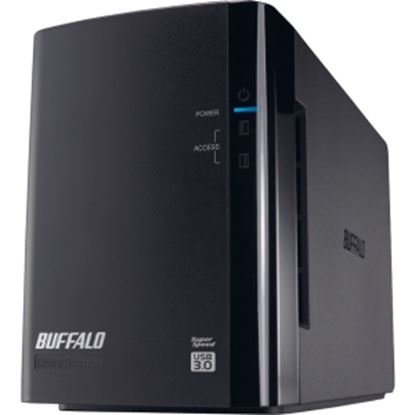 Picture of BUFFALO DriveStation Duo USB 3.0 2-Drive 4 TB Desktop DAS (HD-WH4TU3R1)