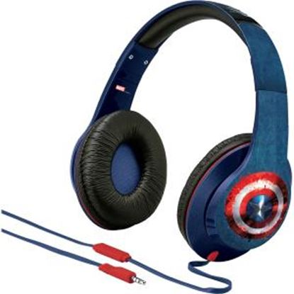 Picture of Ekids Captain America Over-the-Ear Headphones with Volume Control