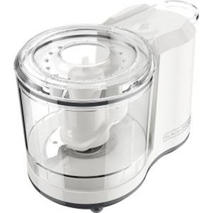 Picture of Black & Decker One-Touch 1.5 Cup Capacity White Chopper