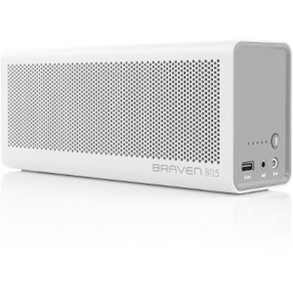 Picture of Braven 8 Series 805 Speaker System - Wireless Speaker(s) - Portable - Battery Rechargeable - White, Gray
