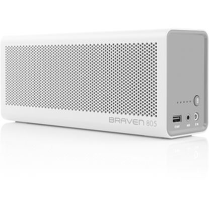 Picture of Braven 805 Portable Bluetooth Speaker System - White, Gray