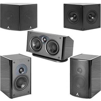 Picture of Atlantic Technology 4400 SR Speaker - 2-way - 2 Pack - Black