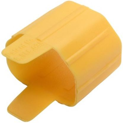 Picture of Tripp Lite Plug Lock Inserts for Detachable C13 Power Cord Yellow 100 Pack