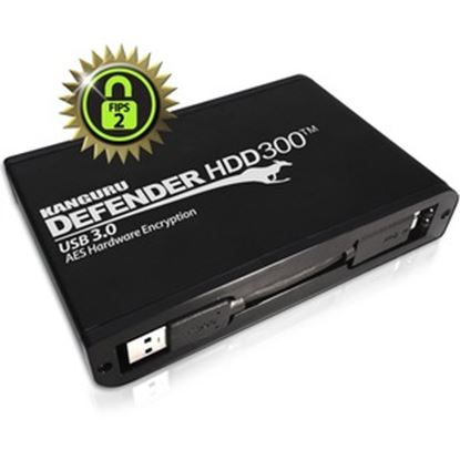 Picture of Defender HDD300 FIPS 140-2 Certified, Hardware Encrypted Secure Hard Drive, 4TB