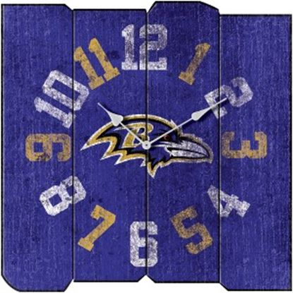 Picture of Imperial Baltimore Ravens Vintage Square Clock
