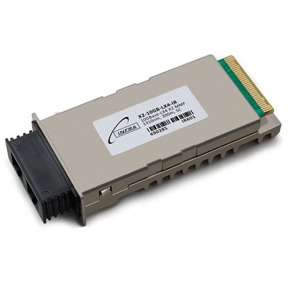 Picture of INFRA Brand - Cisco« X2-10GB-LX4 Compatible TAA Compliant 10GBase-LX4 X2 Transceiver (MMF, 1310nm, 300m, SC) - Lifetime Warranty