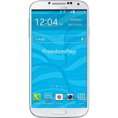 """Picture of FreedomPop Galaxy S4 16 GB Smartphone - 4G - 5"""" Super AMOLED 1920 x 1080 Full HD Touchscreen - Qualcomm Snapdragon 600) APQ8064T Quad-core (4 Core) 1.90 GHz - 2 GB RAM - 13 Megapixel Rear - Android 4.2.2 Jelly Bean - SIM-free - White - Pre-owned"""