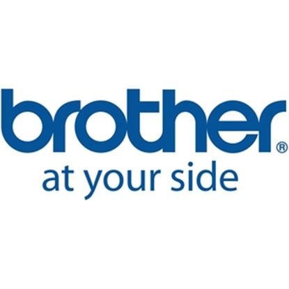 """Picture of Brother 18mm (0.7"""") Black on White HGe Tape with Standard Adhesive 8m (26.2 ft) - 5 Pack"""