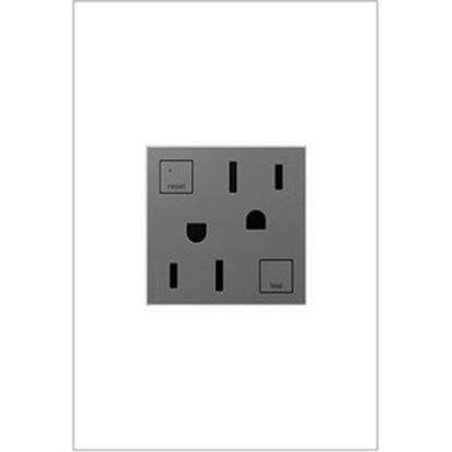 Picture of On-Q/Legrand GFCI Outlet, 15A, Magnesium