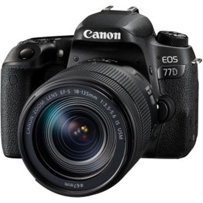 Picture of Canon EOS 77D 24.2 Megapixel Digital SLR Camera with Lens - 18 mm - 135 mm