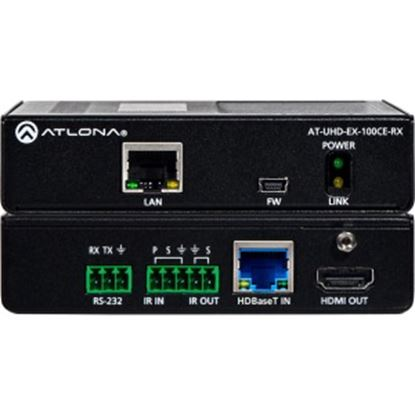 Picture of Atlona 4K/UHD HDMI Over 100M HDBaseT Receiver with Ethernet, Control and PoE