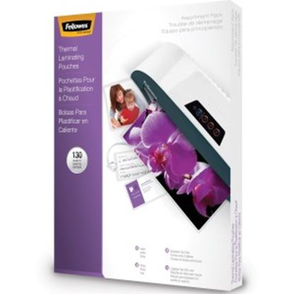 Picture of Fellowes Laminating Pouch Starter Kit, 130 pack
