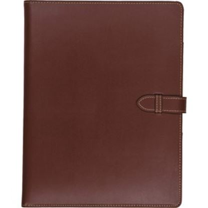 Picture of Samsill Contrast Stitch Leather Padfolio with Strap Closure