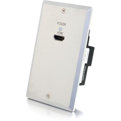 Picture of C2G 4K HDMI HDBaseT over Cat Extender Single Gang Wall Plate Transmitter - Aluminum TAA