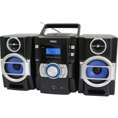Picture of Naxa NPB-429 Mini Hi-Fi System - 16 W RMS - iPod Supported - Black