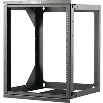 Picture of C2G 12U Hinged Wall Mount Open Frame Rack - 18in Deep (TAA Compliant)