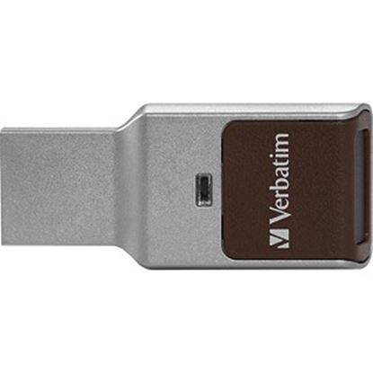 Picture of 64GB Fingerprint Secure USB 3.0 Flash Drive with AES 256 Hardware Encryption - Silver