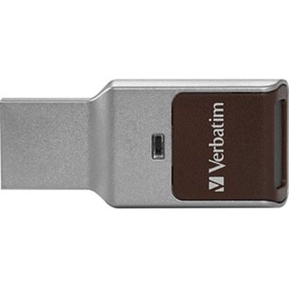 Picture of 128GB Fingerprint Secure USB 3.0 Flash Drive with AES 256 Hardware Encryption - Silver