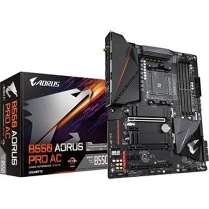 Picture of Aorus Ultra Durable B550 AORUS PRO AC Desktop Motherboard - AMD Chipset - Socket AM4 - ATX