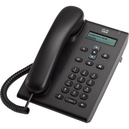 Picture of Cisco 3905 IP Phone - Refurbished - Wall Mountable, Desktop - Charcoal