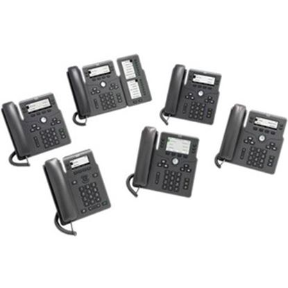 Picture of Cisco 6861 IP Phone - Corded - Corded/Cordless - Wi-Fi - Wall Mountable