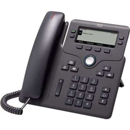 Picture of Cisco 6841 IP Phone - Corded - Corded - Charcoal