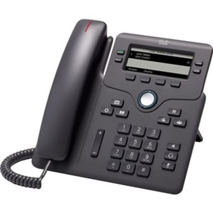 Picture of Cisco 6851 IP Phone - Corded - Corded - Wall Mountable, Desktop